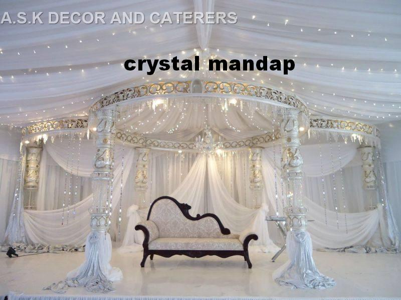 crystal decor - white