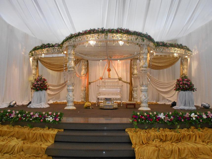 crystal mandap - orient hall weddings - islamic muslim wedding decor
