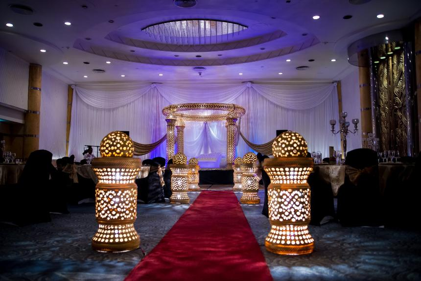 crown jewel mandap - ask decor- indian weddings durban- hilton hotel