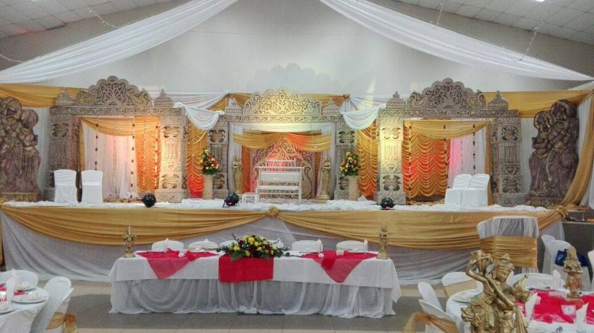 umhlatuzana civic wedding decor - temple set